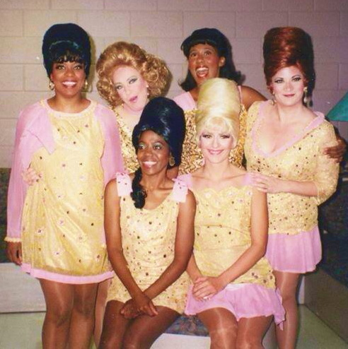 "This was the remount of the 1990-91 production of ""Beehive."" The musical revue has become legendary, not the least for its cast: Kathy Fitzgerald, Robyn Ferracane, Ellen Benton, Maria Amorocho, Ehran Patton and Katherine Todd. (Photo credit unknown)"