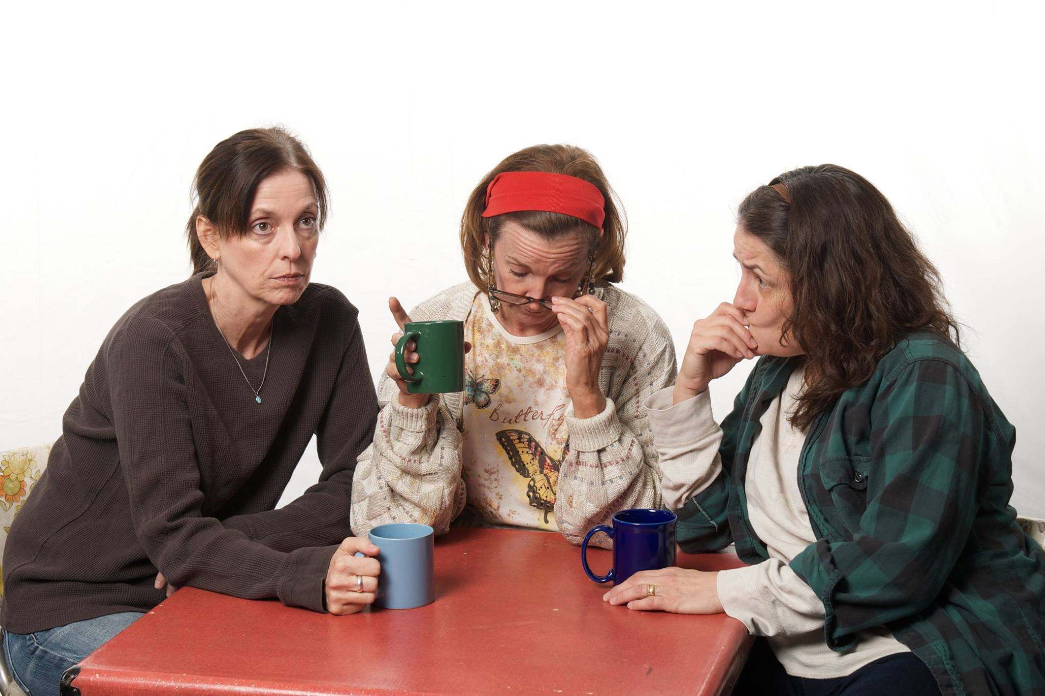 "Actors Theatre, ""Good People,"" April-May, 2014. Katie McFadzen, Cathy Dresbach, Maria Amorocho Weisbrod. (Photo, Actors Theatre)"