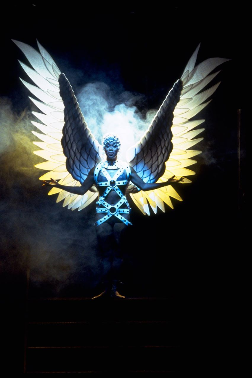 "Lillie Richardson as the angel in ''Angels in America."" 2002. Actors Theatre."