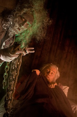 "Actors Theatre creates an original musical adaptation of Charles Dickens' ""A Christmas Carol,"" written by Valley playwright Michael Grady with music by Alan Ruch. Pictured: Mace Archer (left) as the ghost of Jacob Marley and Edward Prostak as Ebenezer Scrooge in 2008."