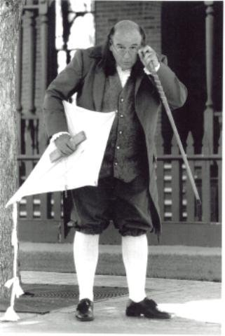 Alan J. Prewitt as Ben Franklin. (Photo credit unknown)