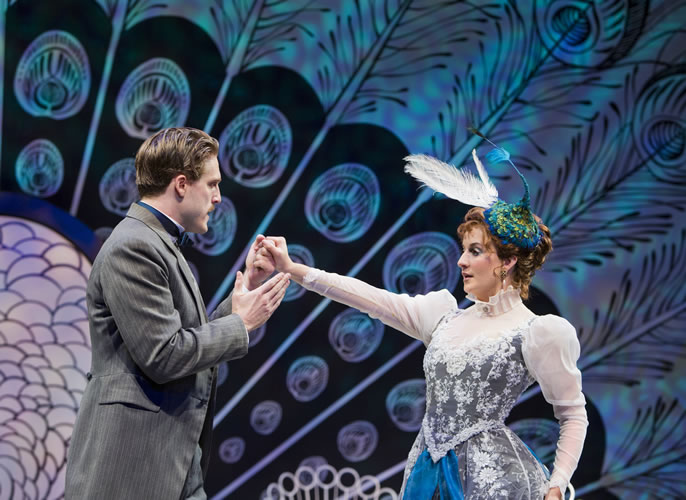 Loren Dunn and Anneliese van der Pol in Arizona Theatre Company's The Importance of Being Earnest (2013-2014 season). Photo by Tim Fuller/Arizona Theatre Company.