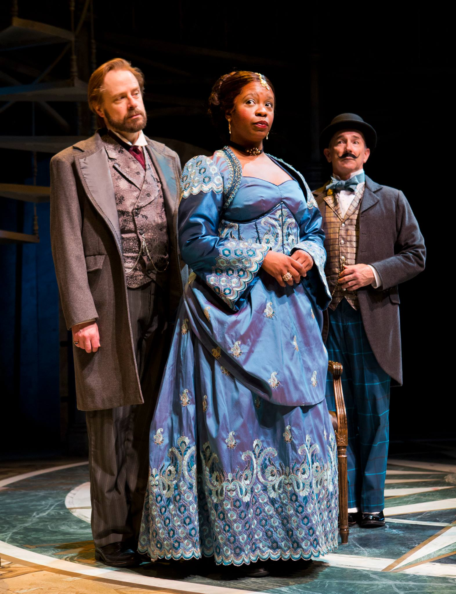 "Mark Anders, Yolanda London and Jon Gentry in ""Around the World in 80 Days,"" 2014, Arizona Theatre Company, (Photo, Tim Fuller)"