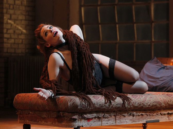 "Arizona Theatre Company, 2013-2014 Season, ""Venus in Fur,"" Gillian Williams. Photograph by Chris Bennion."