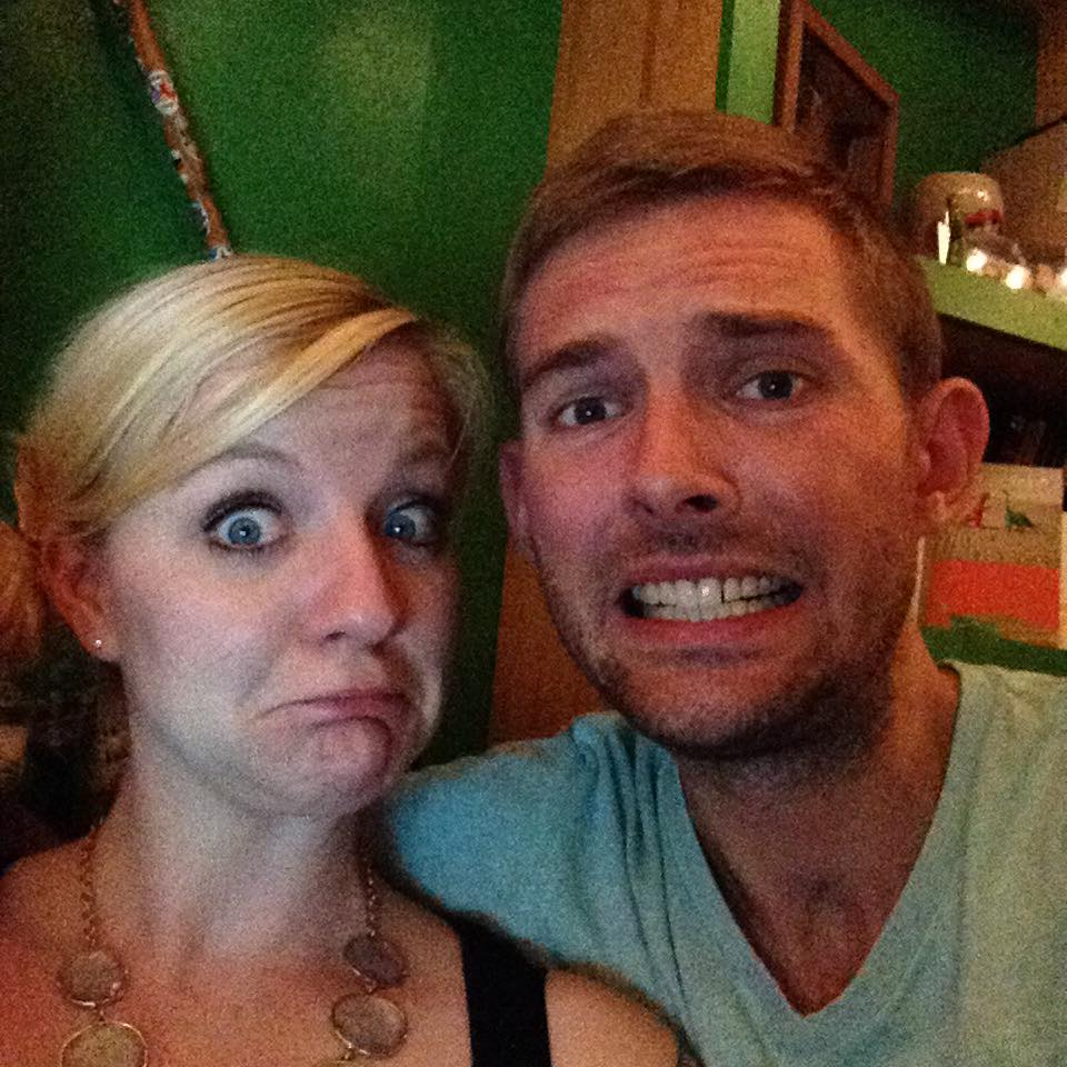 Cassie Chilton and Nate Martian making faces. September, 2015 (Photo from Facebook)