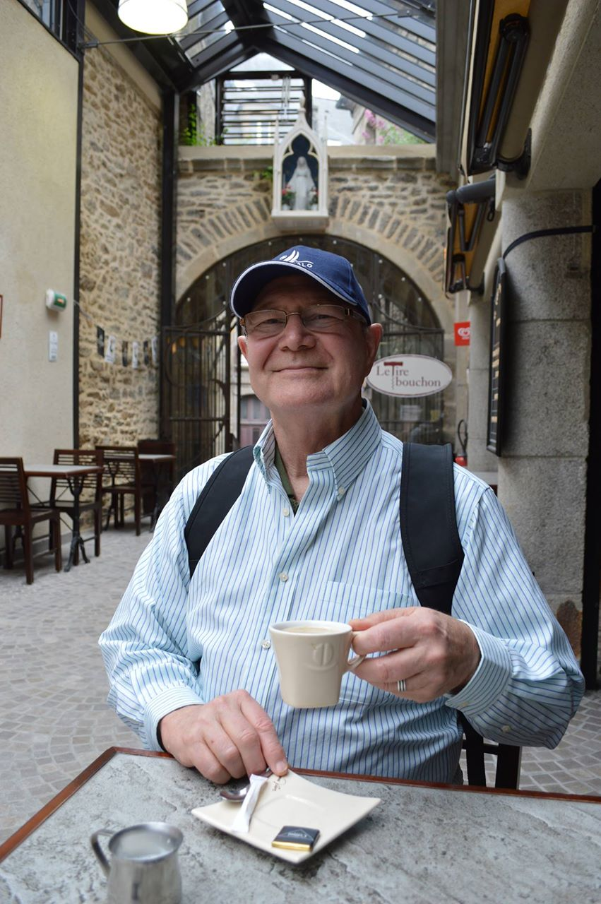 David Vining somewhere in France. Photographed by Ron Glazier.