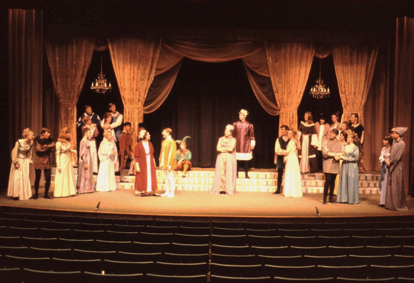 "Who's that hunk in the white tights? David Vining in the 1969 production of ""Once Upon a Mattress"" at the University of Redlands."