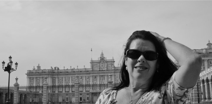 Debra K. Stevens on vacation in Spain