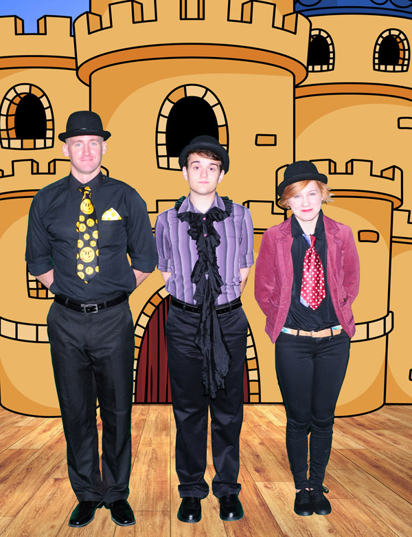 Desert Foothills Theatre. 2015. The Complete Works of William Shakespeare Abridged. Ryan Wentzel, Bradley Beamon and Ari DeVriend. (Photo courtesy of the theater)