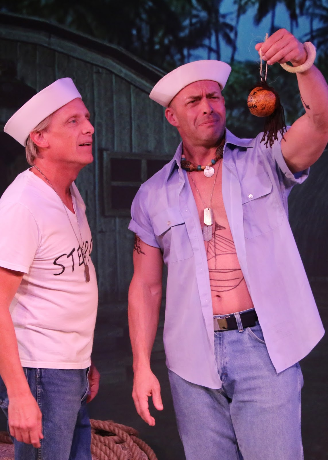Fountain Hills Theatre. 2015. South Pacific. Matt McDonald (Billis) and an unidentified cast member. (Photograph courtesy of the theater)