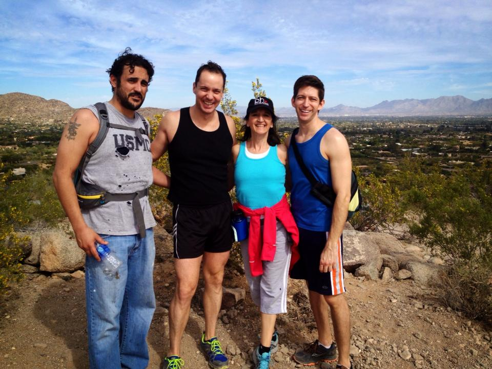 Hiking in the Phoenix mountains with Joseph Cannon, Ian Christiansen, Marylou Karam Stephens and Jonathan Brian. (Photo by Jonathan Brian)