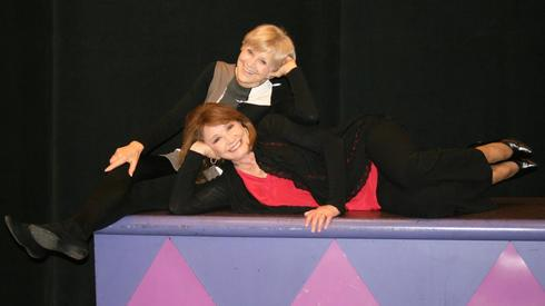 Judy Rollings and Patti Suarez as 'Two Old Broads' in the Herberger Lunch Time Theater Series. (Photo, Valerie Monaco)