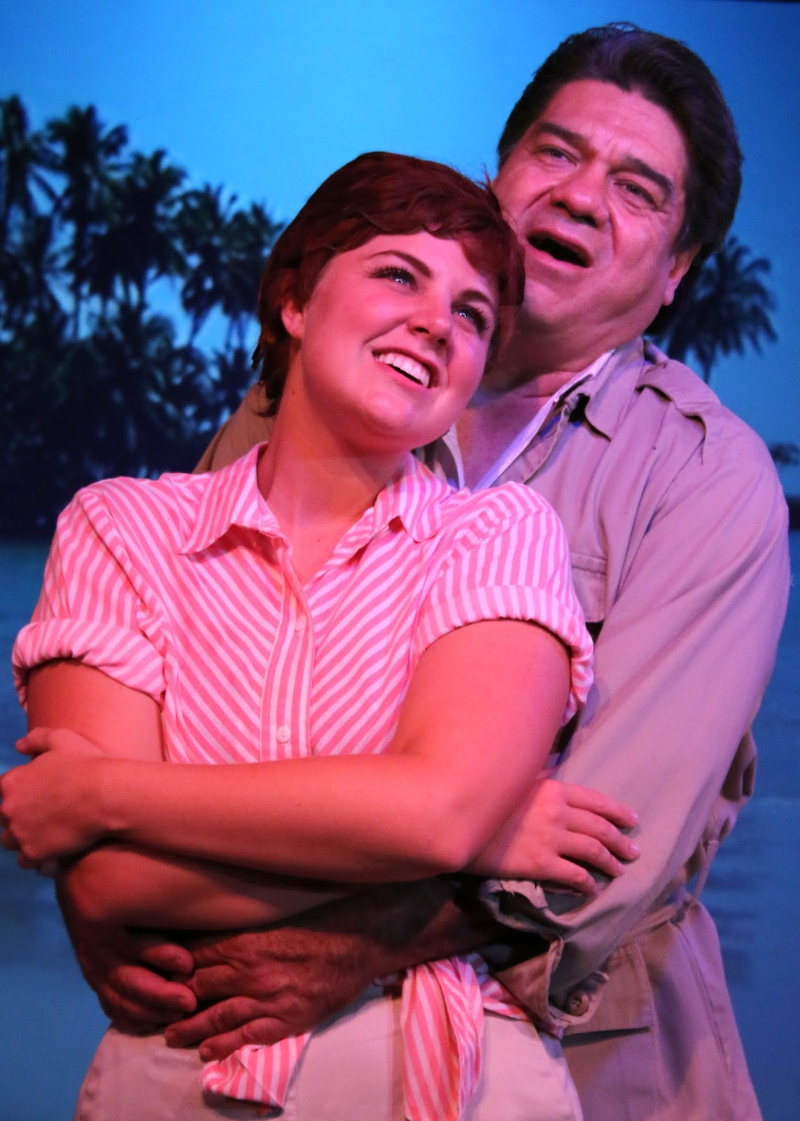 "Karissa Anderson-Self as Nellie and Alex Gonzalez as Emile in Fountain Hills Theatre's 2015 production of ""South Pacific."" (Photo courtesy of the theater)"