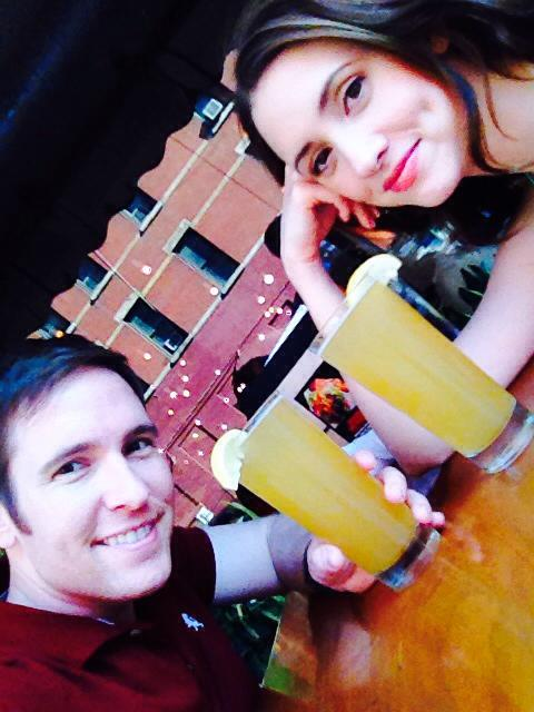 Nick and Christine Bettes Cartell enjoy a cool drink in Manhattan.
