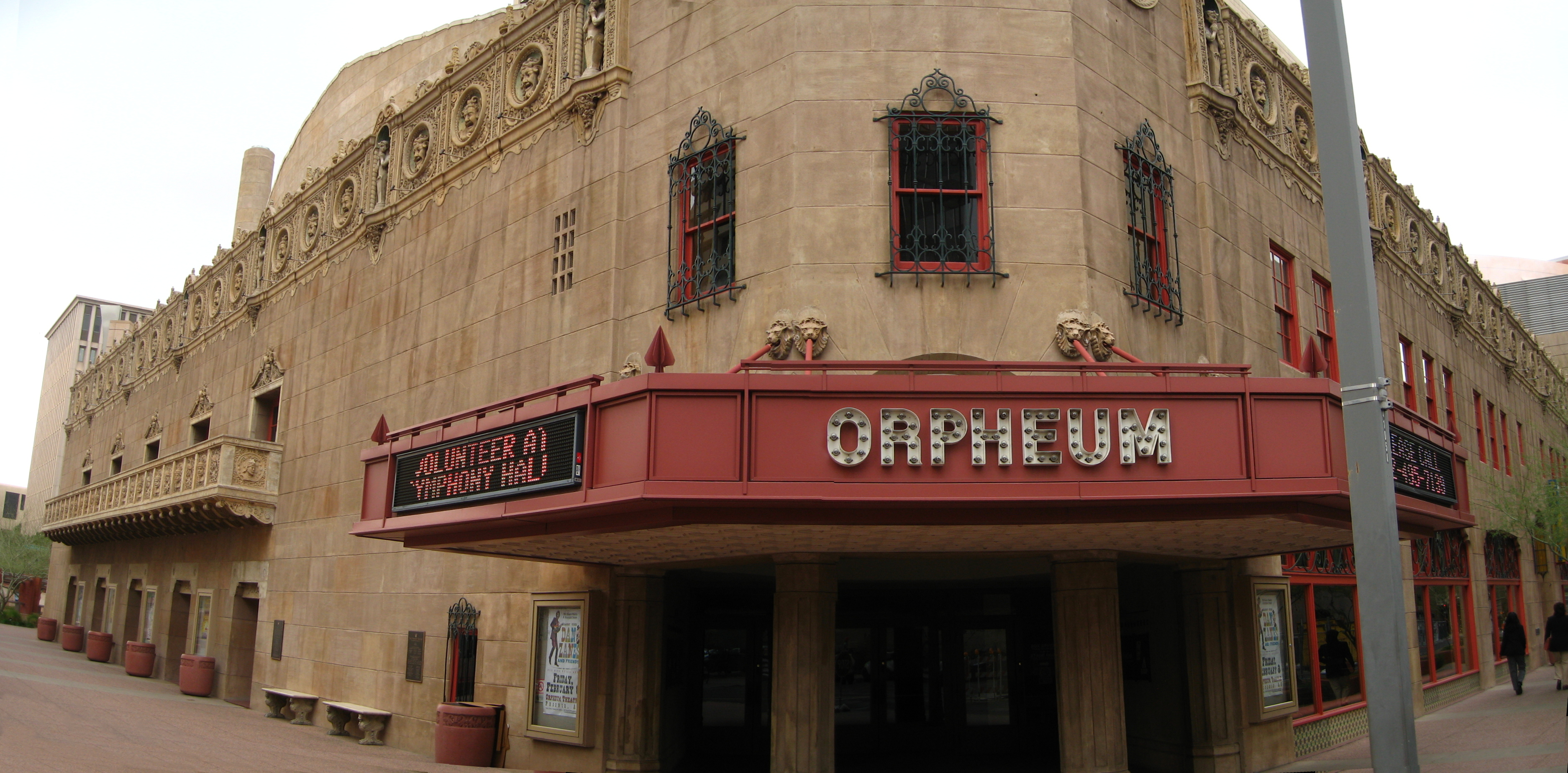 The marquee of the historic Orpheum Theatre.