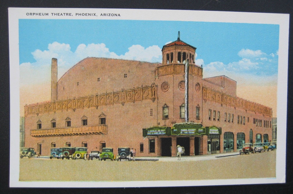 Orpheum Theatre Historic Postcard 001