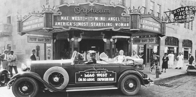 Orpheum Theatre Mae West