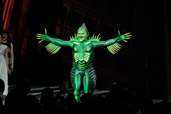 "Patrick receives a standing ovation for his Green Goblin in the controversial ""Spiderman"" musical."