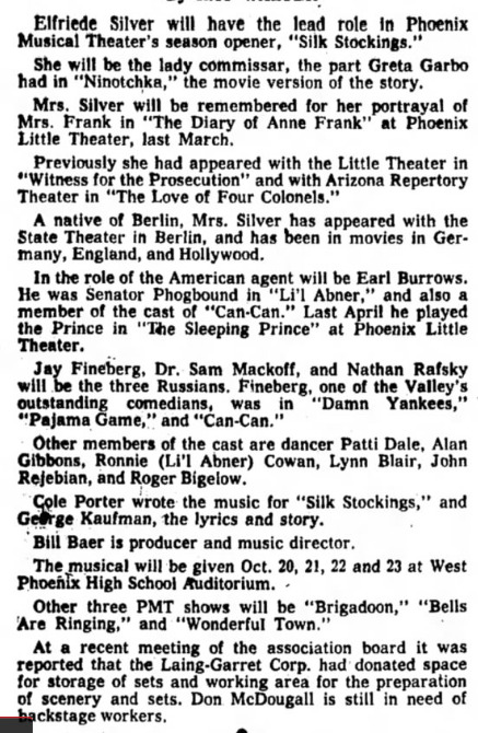 Phoenix Musical Theatre 1960 Silk Stockings 001