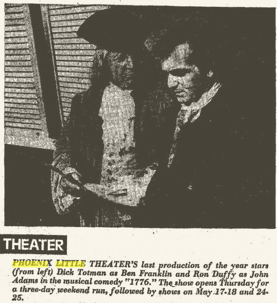 Phoenix Theatre 1776 Arizona Republic, May 5, 1974, Page 211 2014-06-13 11-53-02