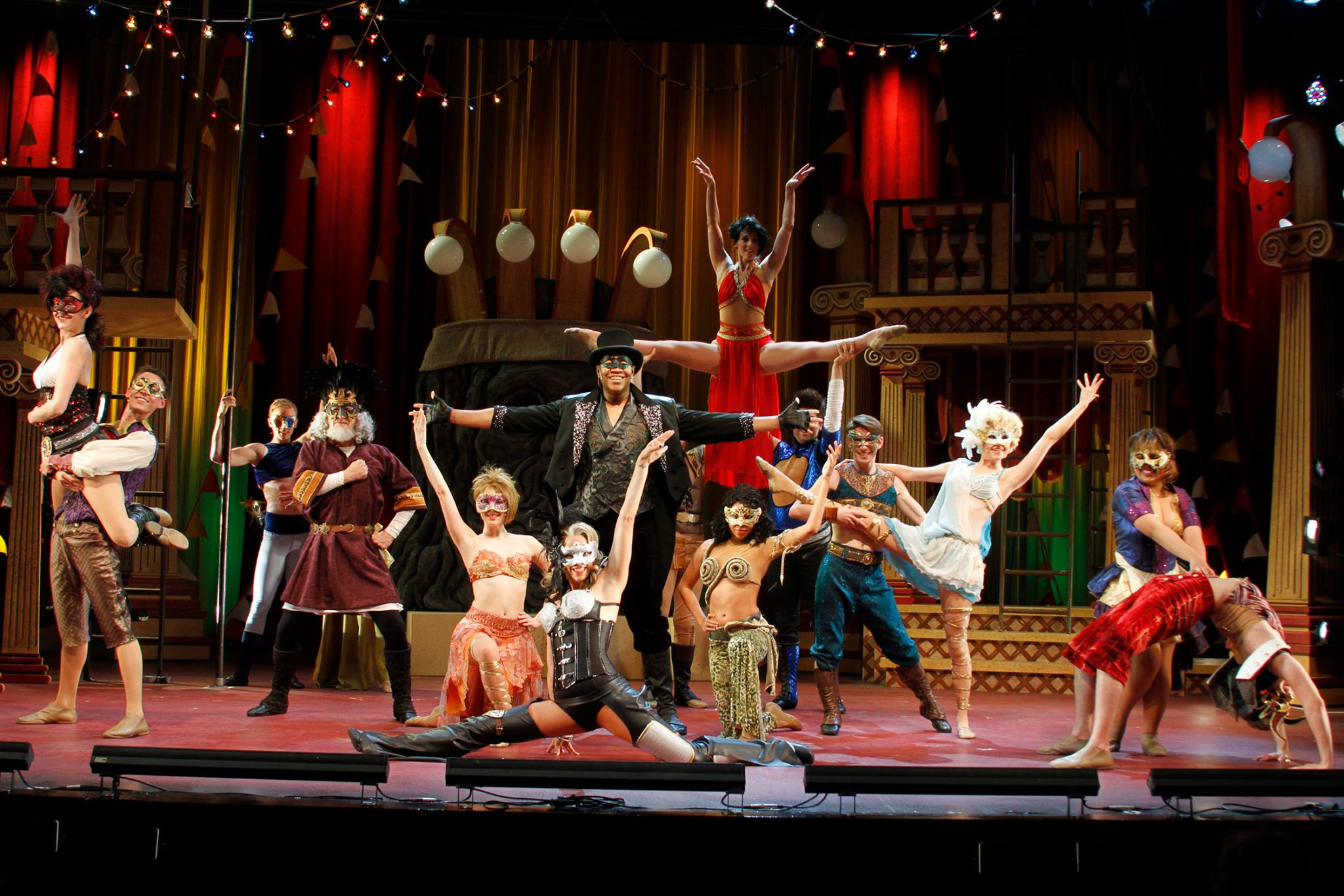 "The cast of ""Pippin"" makes the most of the circus setting. (Photo, Sara Chambers)"