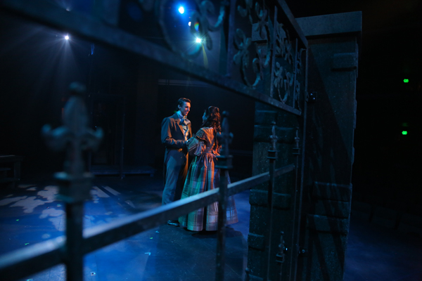 "Christopher Behmke and Karenssa LeGear, ""Les Miserables,"" Phoenix Theatre, 2014 (Photo by Sara Chambers)"