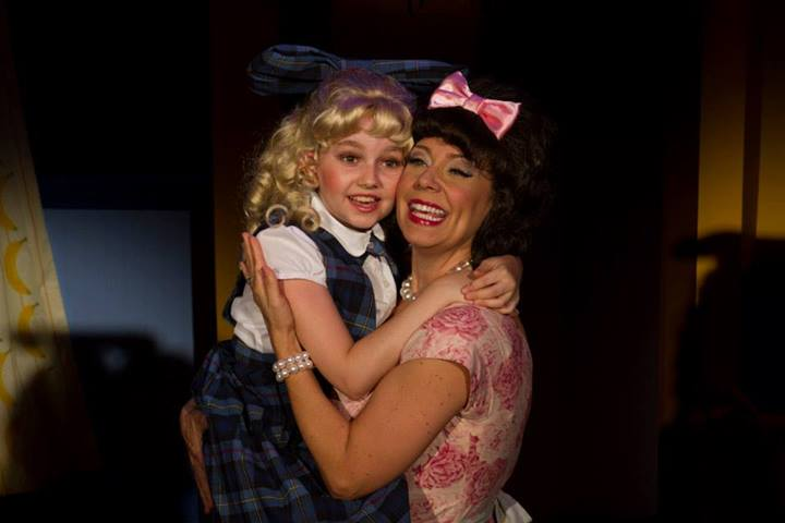 "Riley Glick is Tina and Debby Rosenthal is her mom in ""Ruthless: The Musical."""