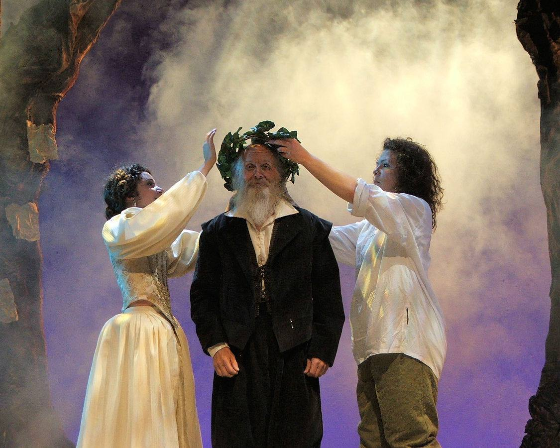 "Jim Coates (center) in the 2008 production of ""As You Like It."" (Photo Credit Unknown)"