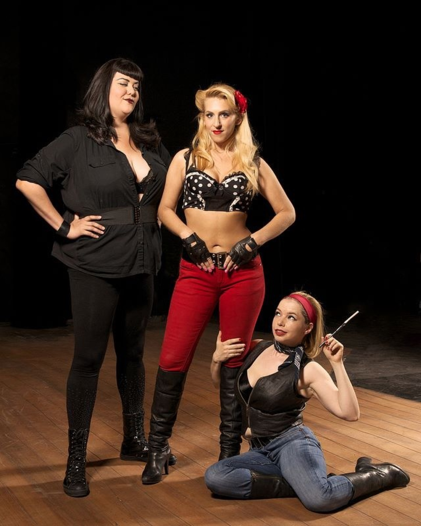 """Chicks With Dicks,"" Stray Cat Theatre, 2013. (Photo by John Groseclose) (The actresses are unidentified; if you know them, please message the webmaster using the Contact button)"