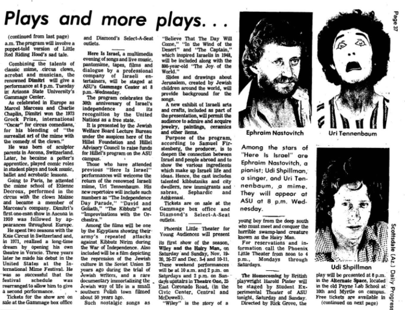 Theater Topics, Nov. 11, 1977a