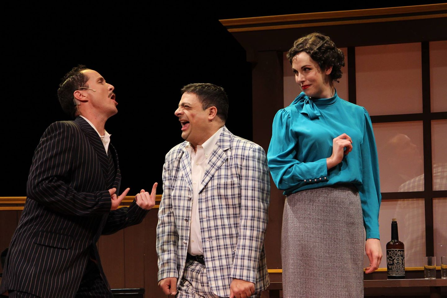 Theater Works. 2014. National Pastime. Ian Christiansen, Scott Hyder, Sarah Wolter. Photo by Brett Aiken.