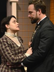 Theatre Artists Studio 2015 The Heiress. Heidi Haggerty and Kent Welborn. Photo by Mark Gluckman.