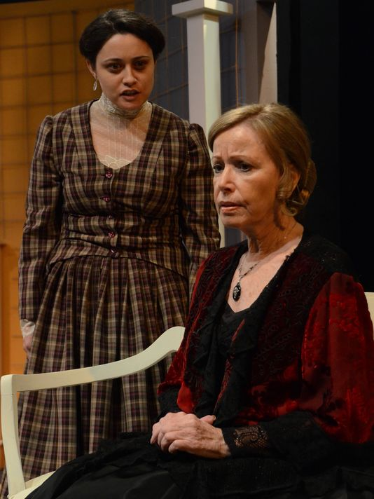 Heidi Haggerty and Judy LeBeau in ''The Heiress'' at Theatre Artists Studio, 2015. Photo by Mark Gluckman.