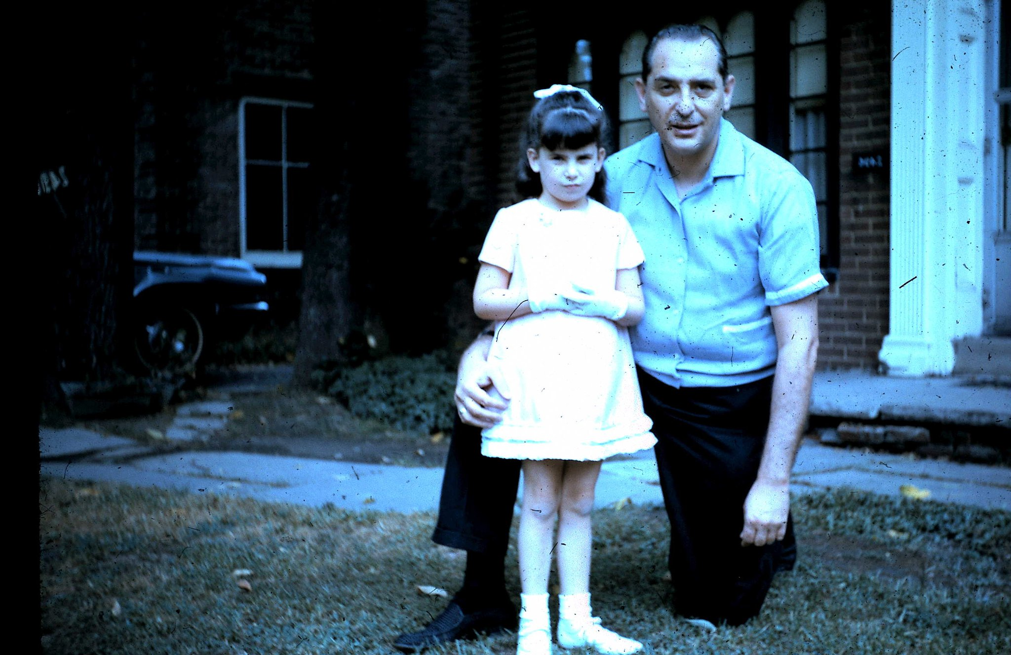 A young Wendy with her dad.
