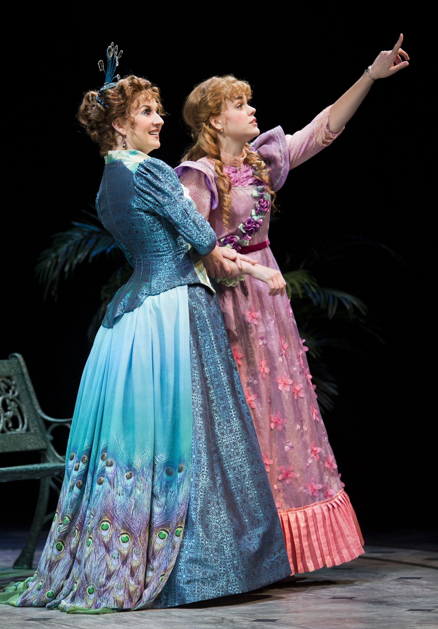 "Anneliese van der Pol and Heather Marie Cox in Arizona Theatre Company's ""The Importance of Being Earnest;"" photo by Tim Fuller."