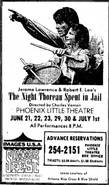 phoenix theatre 1973 the night thoreau spent in jail 000