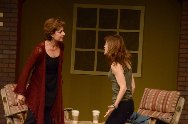 "Andrea Dovner and Lesley Ariel Tutnick in ""Proof."" (Photo by Mark Gluckman)"