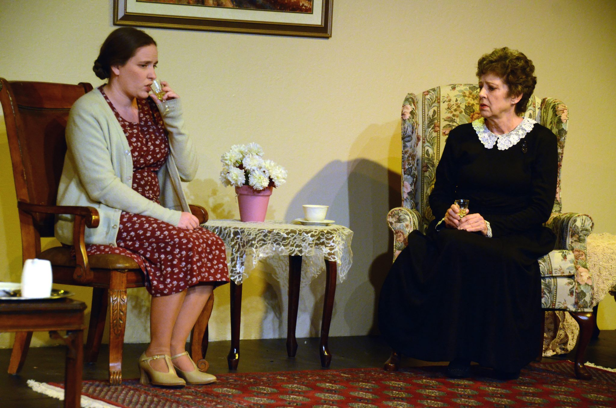 "Amanda Noel Trombley and Barbara Acker in ""Mrs. Klein"" at Theatre Artists Studio, 2013. (Photo by Mark Gluckman)"