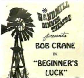 """The Windmill Dinner Theatre program for """"Beginner's Luck."""""""
