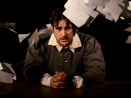 Joseph Cannon as Shakespeare in the Southwest Shakespeare Company production of 'Equivocation.' (Photo: Mark Gluckman)