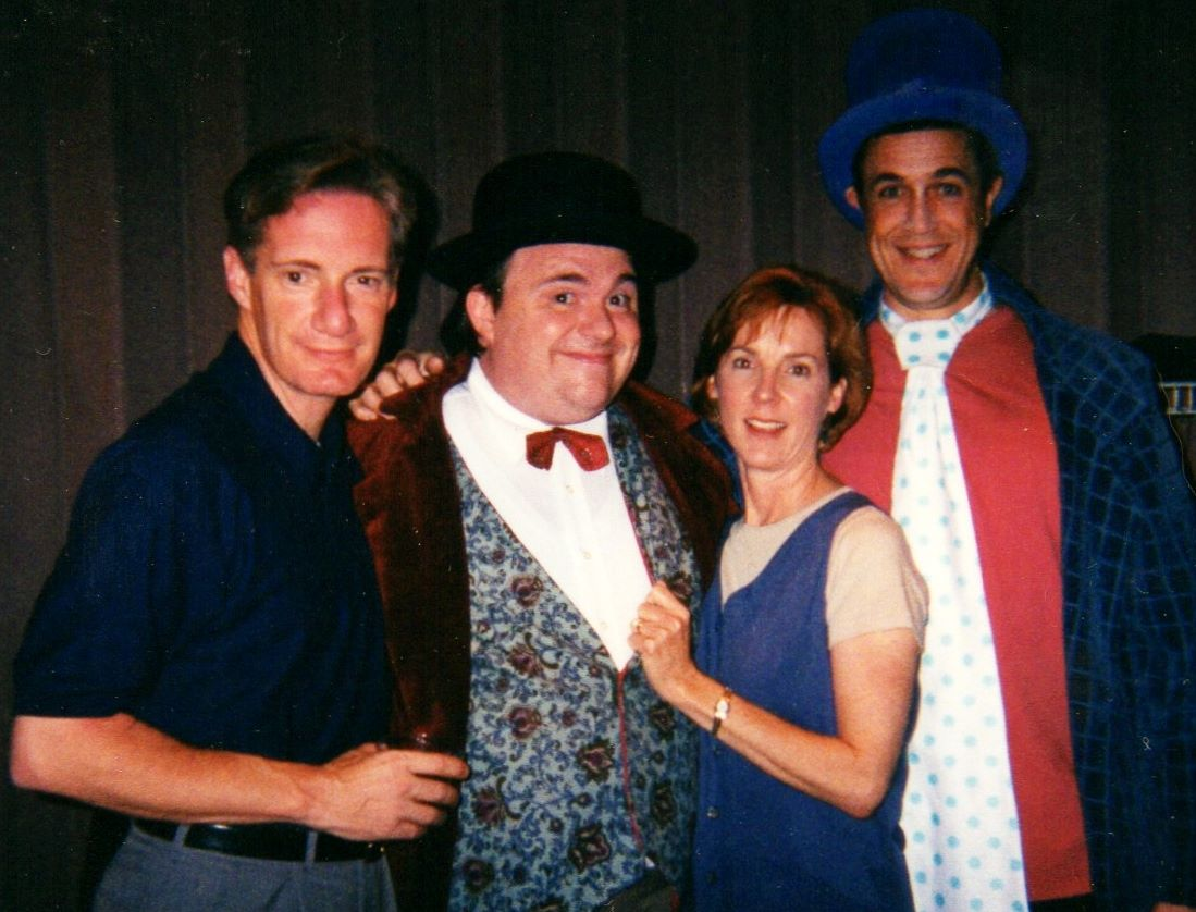 "Bob Sorenson, Wes Martin, Cathy Dresbach and Hamilton Mitchell in ""The Wallace & Ladmo Show"" at Desert Foothills Theatre (Photo Credit Unknown)"