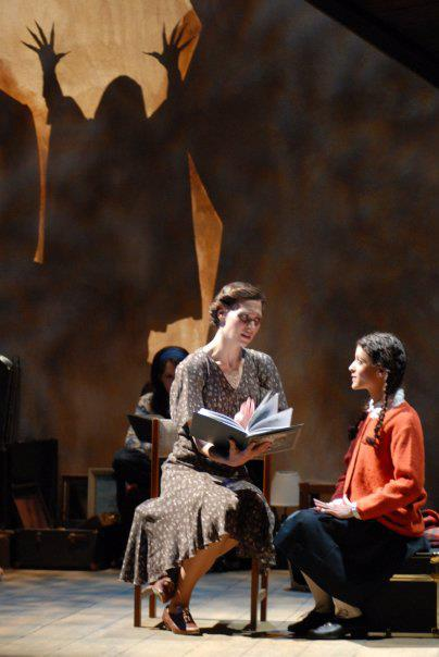 2008. Kindertransport. Arizona Jewish Theatre Company. Lindsey Marlin, Jaime Fox. Back (far left), Kerry McCue. Behind Lindsey, Steven J. Scally.