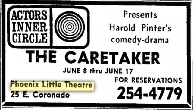 Actors Inner Circle The Caretaker June 10, 1967