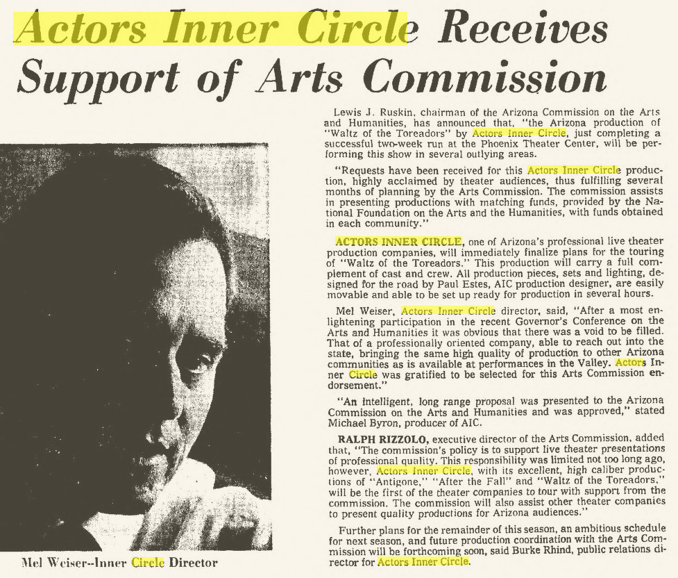 Actors Inner circle 1967 april 9