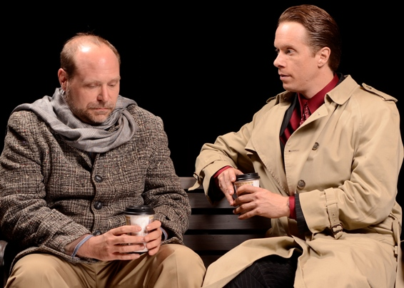 "Robert Kolby Harper and David Dickinson make talking about sin very interesting in ""Next Fall."" (Photo by John Groseclose)"