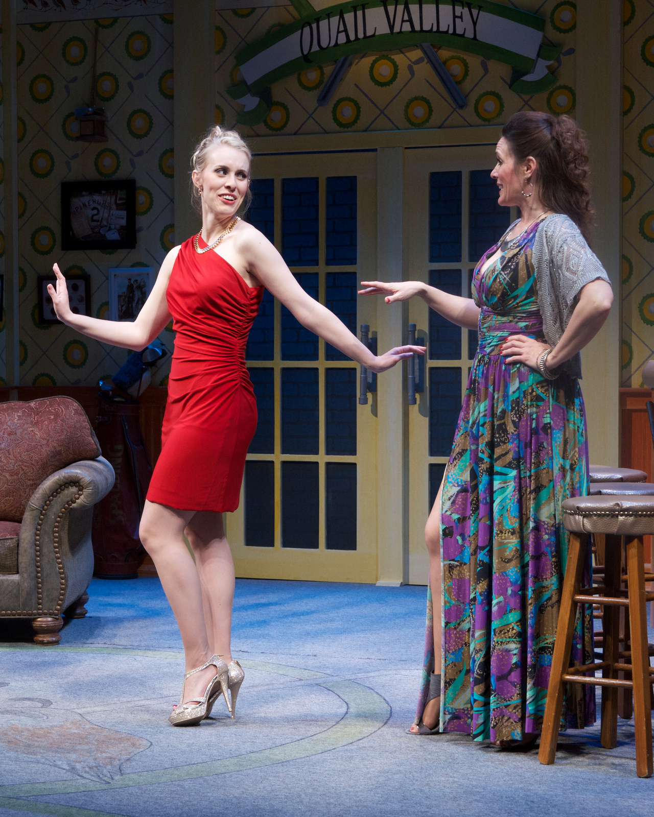 "Ashley Stults and Maren Maclean in ""The Fox on the Fairway."" (Photo by John Groseclose)"