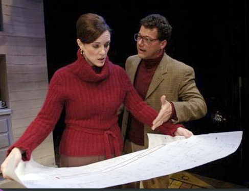 "Maren Maclean and Gene Ganssle in ""Benefactors,"" Actors Theatre, 2006. (Photo by Jeff Kida)"