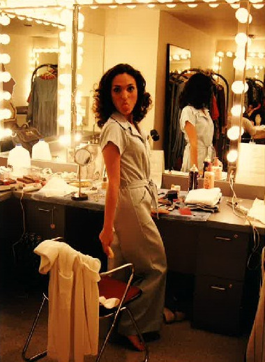 "Angelica Howland showing some attitude in the dressing room during Phoenix Theatre's production of ""Lizard,"" directed by the late Michael Mitchell. (Photo from the collection of Angelica Howland)"