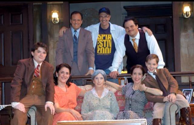 Arizona Jewish Theatre Company. 2004. Lost in Yonkers. (Sitting) Unidentified; Maria Amorocho Weisbrod, Jacqueline Gaston, Susan Sindelar, Paul Thomson. (Standing) Bruce Laks, Randy Messersmith (director), Cale Keadus Pascual. Photo credit unknown.