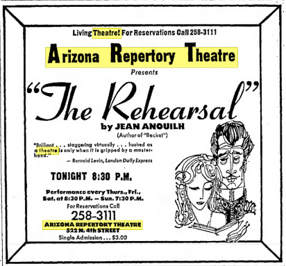 a history of the development of the phoenix little theatre in arizona Welcome to desert stages theatre  at the center of arizona's premiere shopping, dining and entertainment destination  little rhoda penmark is the evil queen.
